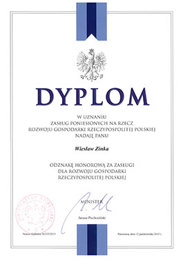 Badge of Honour for contribution to the development of the Polish economy